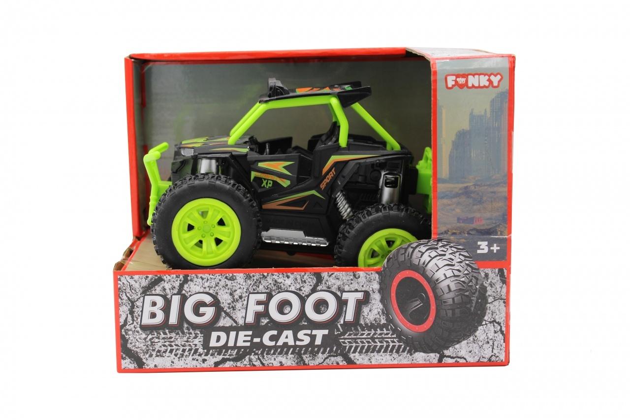 Машина пластиковая FUNKY TOYS Багги die-cast, инерционный, зеленый, 1:24