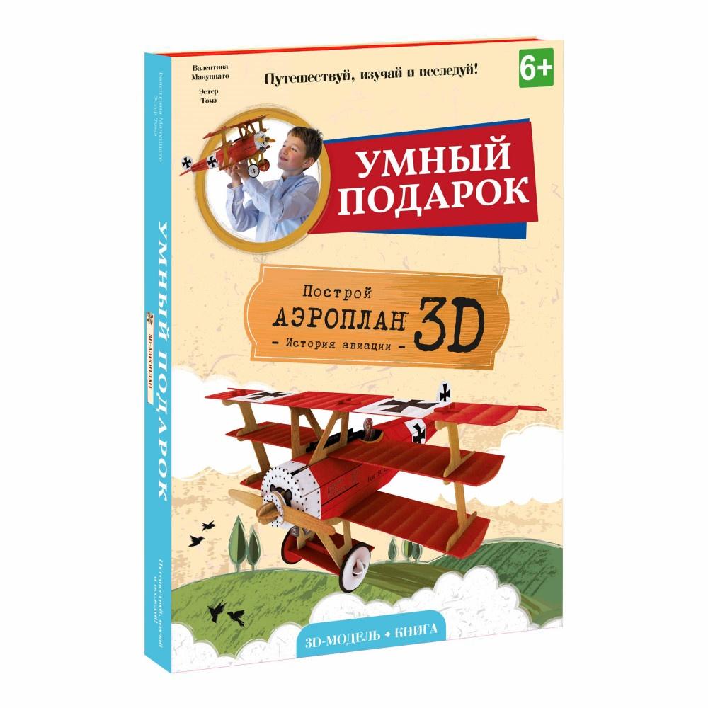 Конструктор ГЕОДОМ Аэроплан 3D + книга