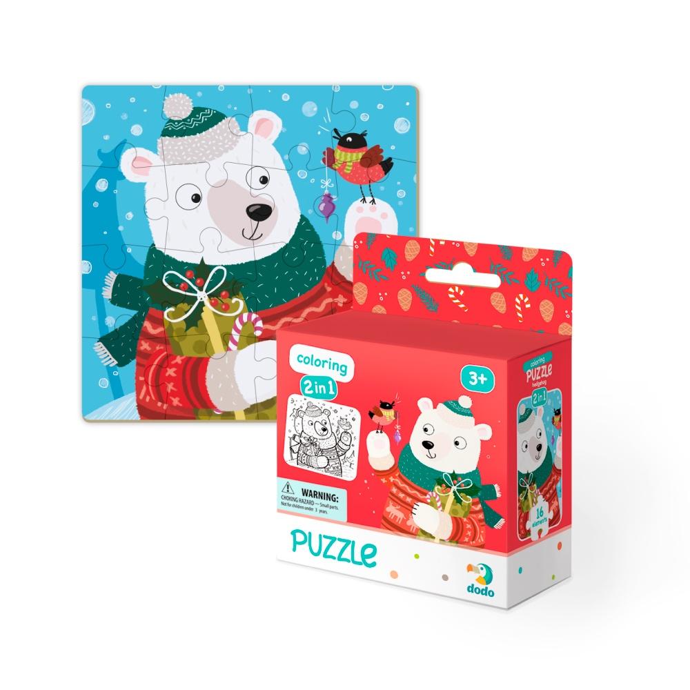 Пазл DODO раскраска Рождественский мишка