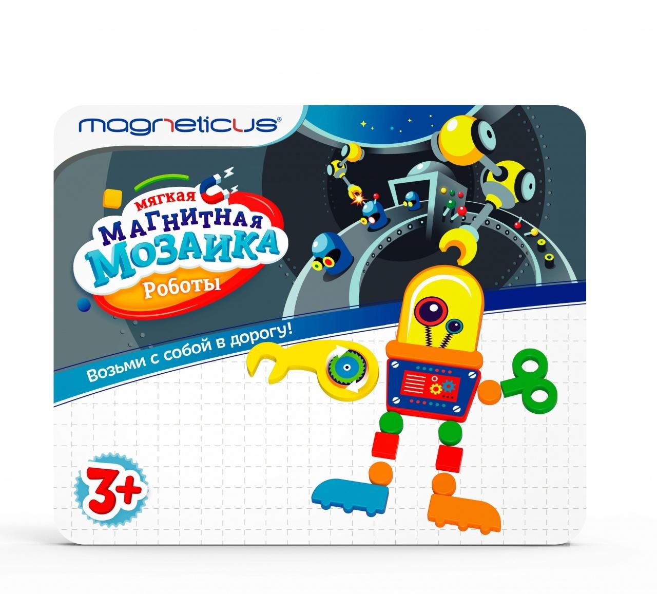 Мозаика магнитная MAGNETICUS Роботы
