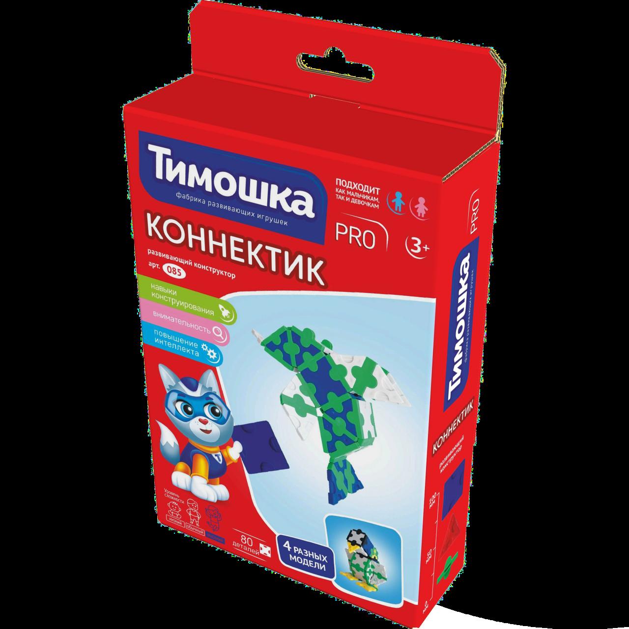 Конструктор ТИМОШКА Коннектик 80 деталей