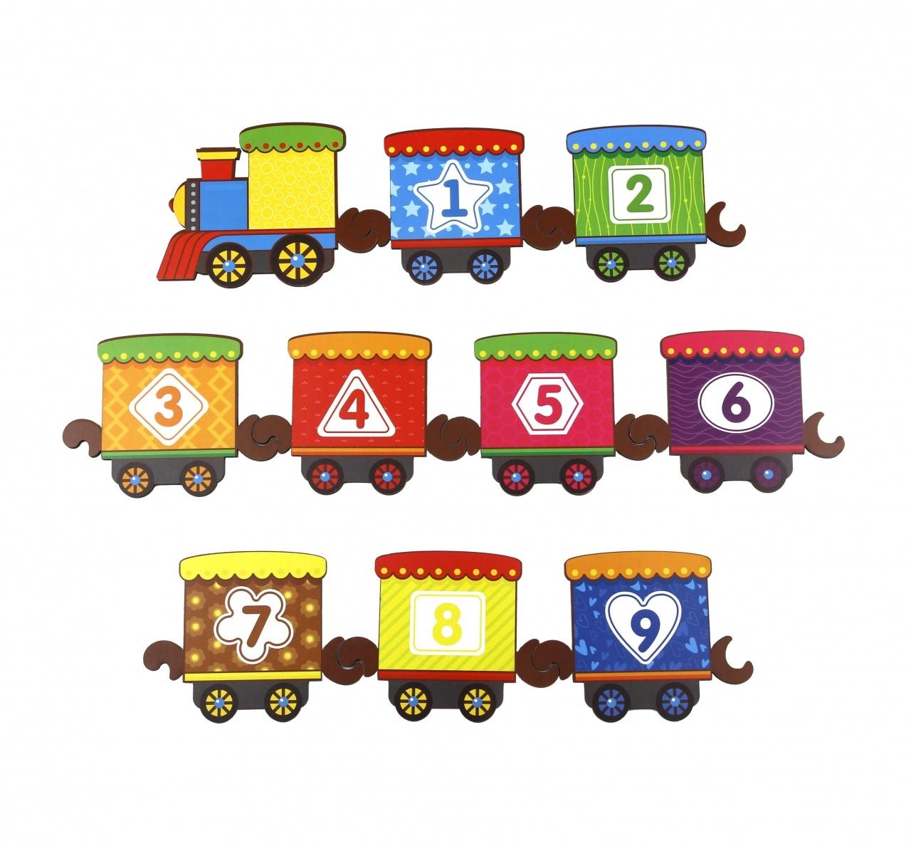 Обучающий набор WOODLANDTOYS Поезд с цифрами